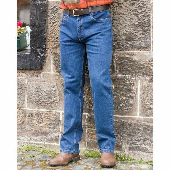 Hoggs of Fife Men\'s Comfort Fit Jeans in Dark Stonewash