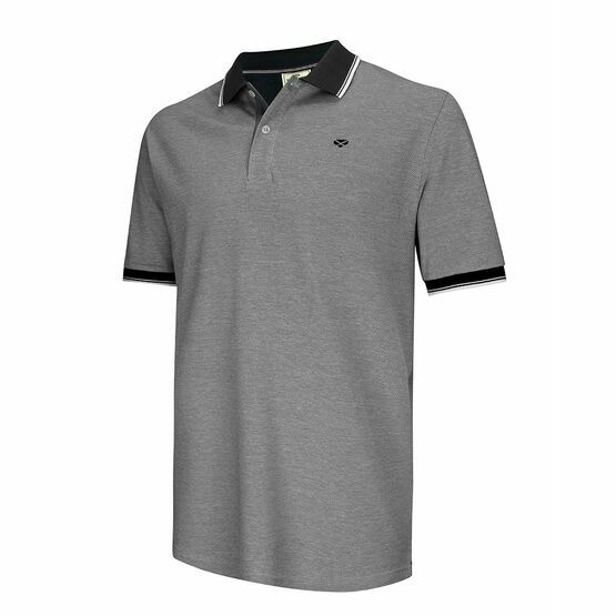 Hoggs of Fife Kinghorn Polo Shirt in Contrast Navy