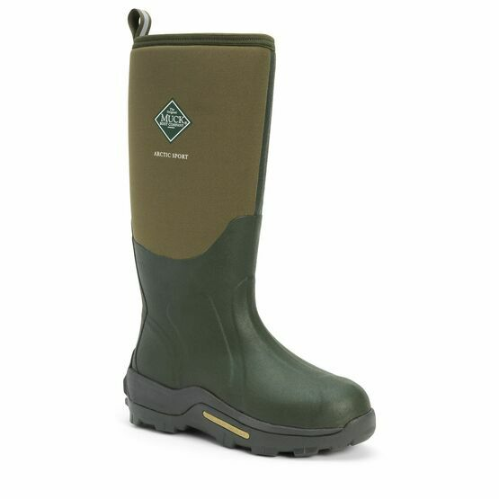 Muck Boots Arctic Sport Tall Wellington Boots in Moss