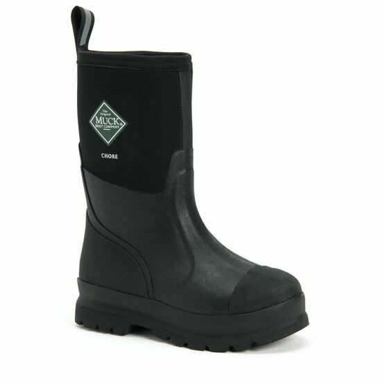 Muck Boots Chore Classic Short Wellington Boot in Black