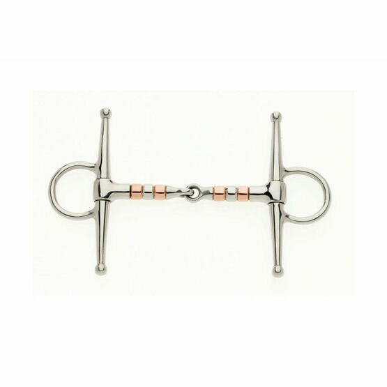 Copper Roller Full Cheek Jointed Snaffle