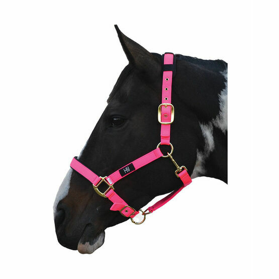 Hy Deluxe Padded Head Collar - Hot Pink