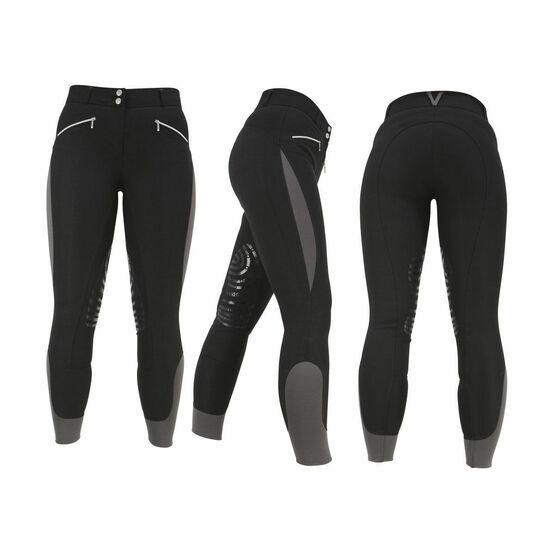 HyPERFORMANCE Sports Active Ladies Breeches - Black/Grey