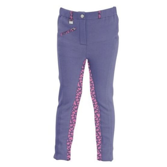 HyPERFORMANCE Love Hearts Children\'s Jodhpurs - Insignia/Deep Pink Hearts