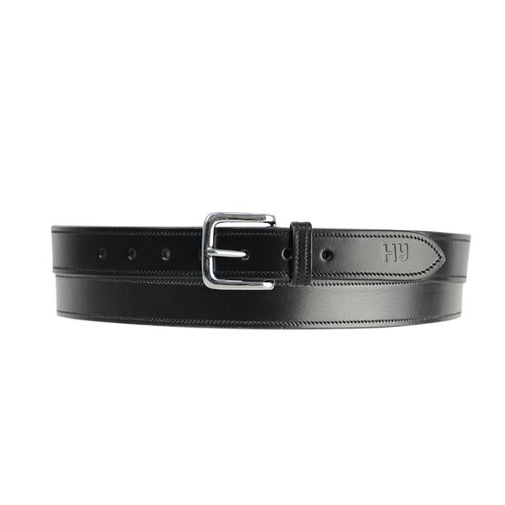 Hy Plain Leather Belt - Black