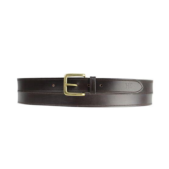 Hy Plain Leather Belt - Brown