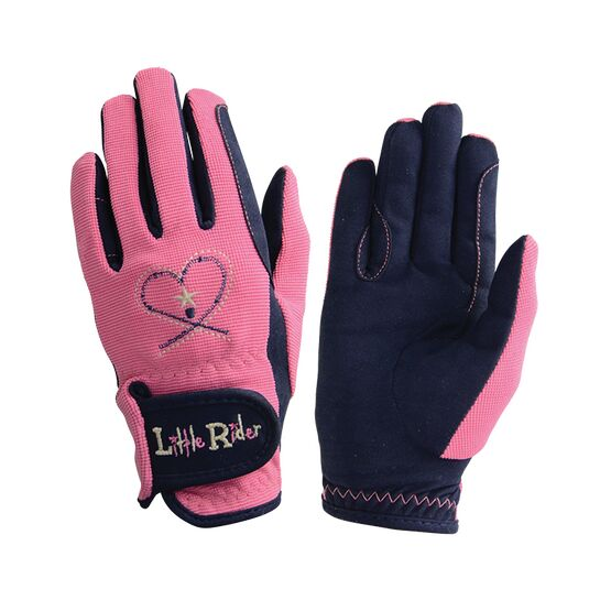 Riding Star Children\'s Riding Gloves - Rapture Rose/Navy