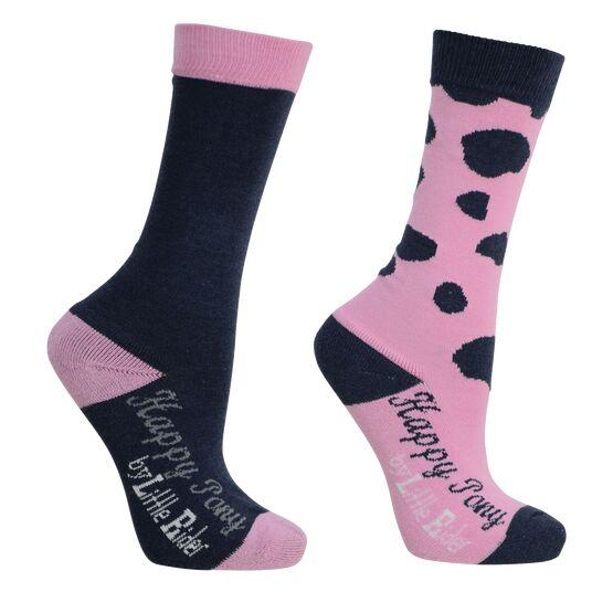 Molly Moo Socks (Pack of 2) - Sachet Pink/Black Iris - 8-12