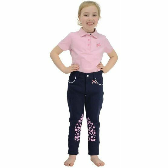 Molly Moo Polo Shirt by Little Rider - Sachet Pink