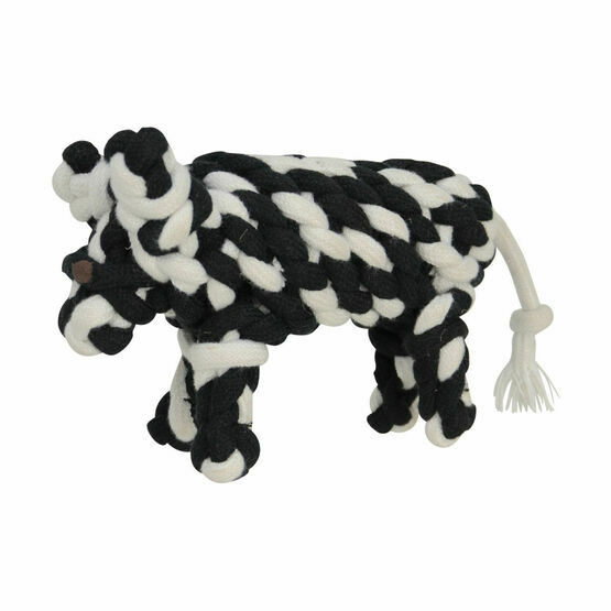 Companion Natural Eco-Friends Clover Cow Dog Toy - Black & White