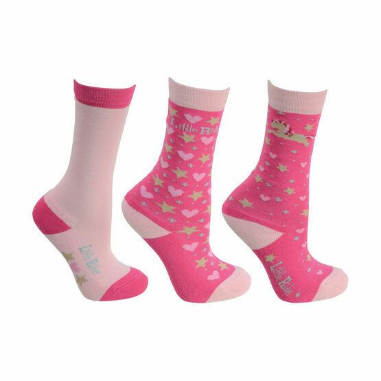 Little Rider Little Show Pony Socks (Pack of 3)  - Cameo Pink - Child 8 -12
