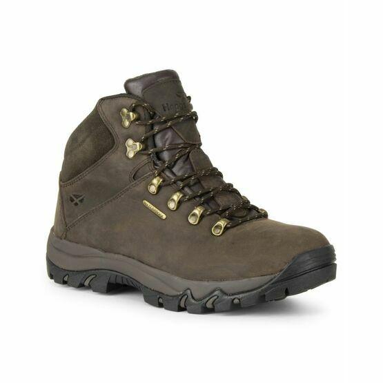 Hoggs Glencoe Waxy Leather Waterproof Trek Boot - Brown