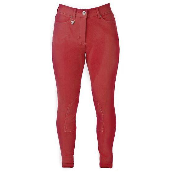HyPerformance Bright Denim Ladies Breeches - Red