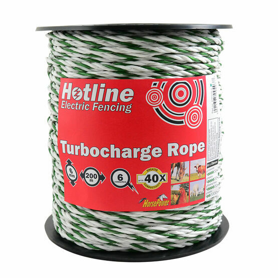 Hotline P51G-2 White/Green Supercharge Rope - 6mm x 200m