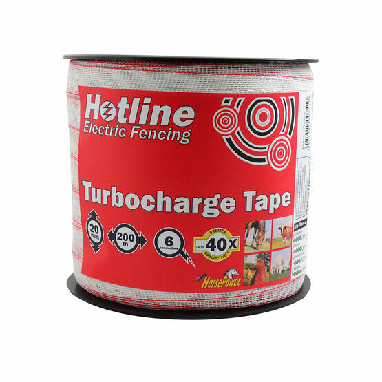 Hotline TC43-2 Electric Fencing Turbo Tape - 20mm x 200m