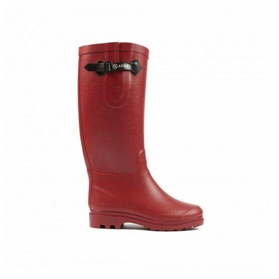 Aiglentine Fur Ladies Wellington Boots - Red