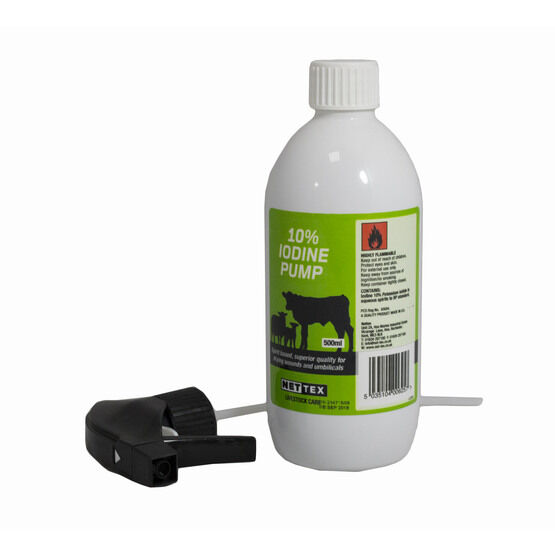 10% Iodine Pump Spray - 500ml