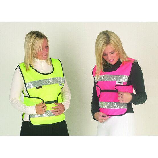 HyViz Reflective Adjustable Tabard Pink And Black