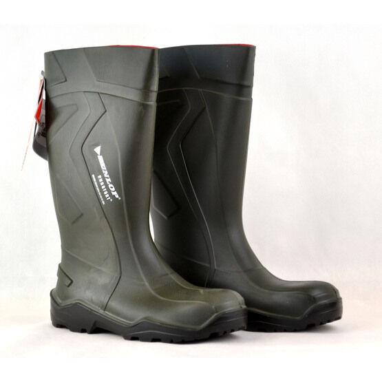 Dunlop Purofort Green Wellington Boots