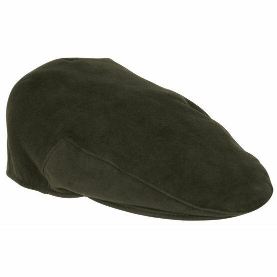 Hoggs Of Fife Moleskin Cap - Dark Olive
