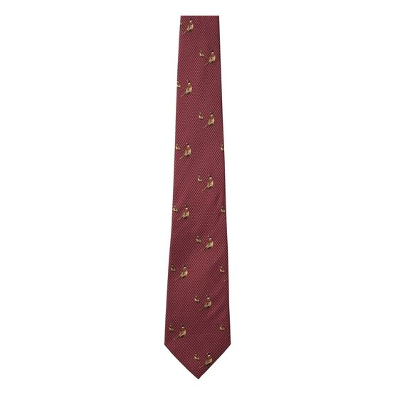 Seeland Morgan Pheasant Silk Tie - Red